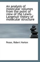An analysis of molecular volumes from the point of view of the Lewis-Langmuir theory of molecular st