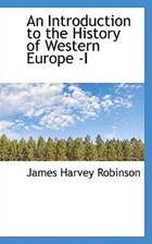 An Introduction To The History Of Western Europe -i