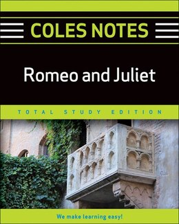 Book Coles Notes Total Study Edition Romeo and Juliet by Na