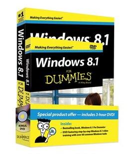 Windows 8.1 For Dummies Book   DVD Bundle