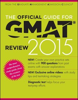 Book The Official Guide for GMAT Review 2015 with Online Question Bank and Exclusive Video by Graduate Management Admission Council (GMAC)