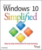 Book Windows 10 Simplified by Paul McFedries