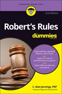Roberts Rules For Dummies
