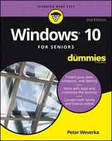 Book Windows 10 For Seniors For Dummies by Peter Weverka