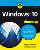 Book Windows 10 For Dummies by Andy Rathbone