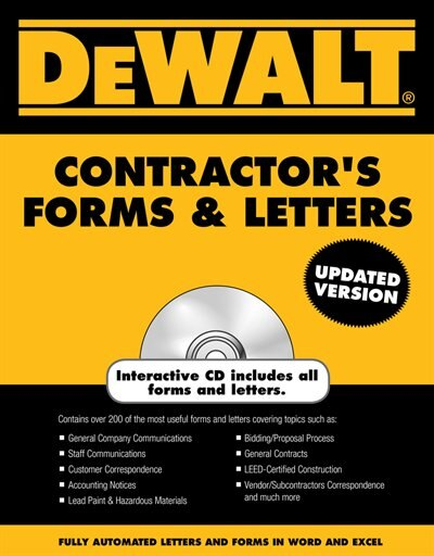 Dewalt® Contractor's Forms & Letters by Paul Rosenberg