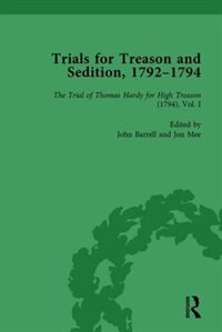 Trials For Treason And Sedition, 1792-1794, Part I Vol 2