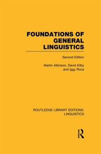 Foundations Of General Linguistics