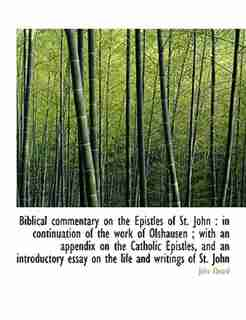 Biblical Commentary On The Epistles Of St. John: In Continuation Of The Work Of Olshausen ; With An Appendix On The Catholic Epistles, And An Introd by John Ebrard