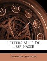 Letters Mlle De Lespinasse