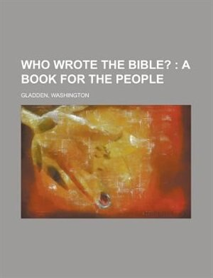 who wrote the bible the great question