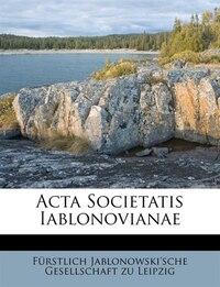 Acta Societatis Iablonovianae
