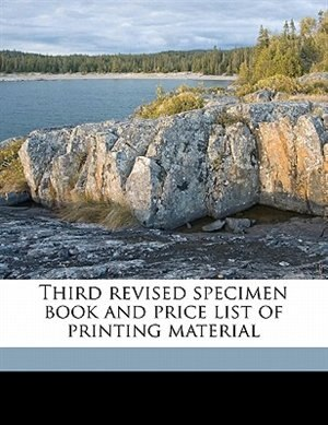 Third Revised Specimen Book And Price List Of Printing Material by Firm Type-founders San F Palmer & Rey