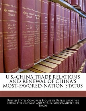 china most favored nation status