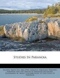 Studies In Paranoia