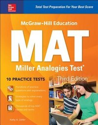 McGraw-Hill Education MAT Miller Analogies Test, Third Edition