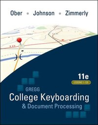 GREGG COLLEGE KEYBOARDING & DOCUMENT PROCESSING (GDP11) MICROSOFT WORD 2016 MANUAL KIT 3: 1-120