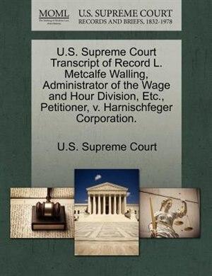 case harnischfeger corporation
