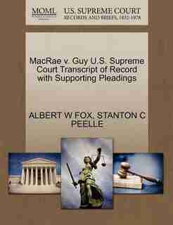 Macrae V. Guy U.s. Supreme Court Transcript Of Record With Supporting Pleadings by Albert W Fox