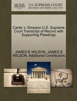 Carter V. Simpson U.s. Supreme Court Transcript Of Record With Supporting Pleadings
