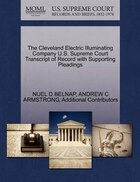The Cleveland Electric Illuminating Company U.s. Supreme Court Transcript Of Record With Supporting…