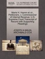 Marie H. Hamm Et Vir., Petitioners, V. Commissioner Of Internal Revenue. U.s. Supreme Court…