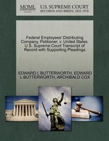 Federal Employees' Distributing Company, Petitioner, V. United States. U.s. Supreme Court…