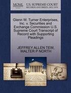 Glenn W. Turner Enterprises, Inc. V. Securities And Exchange Commission U.s. Supreme Court…
