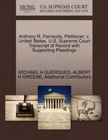 Anthony R. Fernicola, Petitioner, V. United States. U.s. Supreme Court Transcript Of Record With…