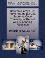 Branton (parey P.) V. Parker (mary E.) U.s. Supreme Court Transcript Of Record With Supporting…