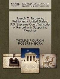 Joseph C. Tarqueno, Petitioner, V. United States. U.s. Supreme Court Transcript Of Record With…