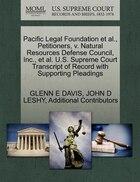 Pacific Legal Foundation Et Al., Petitioners, V. Natural Resources Defense Council, Inc., Et Al. U…