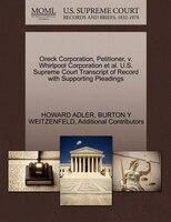 Oreck Corporation, Petitioner, V. Whirlpool Corporation Et Al. U.s. Supreme Court Transcript Of…