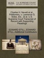 Charles H. Nevett Et Al., Petitioners, V. Lawrence G. Sides, Etc., Et Al. U.s. Supreme Court…