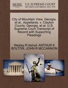 City Of Mountain View, Georgia, Et Al., Appellants, V. Clayton County, Georgia, Et Al. U.s. Supreme…
