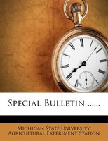 Special Bulletin ......