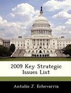 2009 Key Strategic Issues List