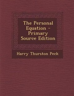 The Personal Equation - Primary Source Edition