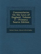 Commentaries On the Laws of England, Volume 2 - Primary Source Edition