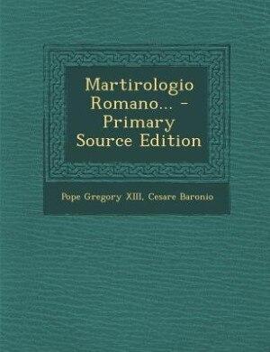 Martirologio Romano... de Pope Gregory XIII