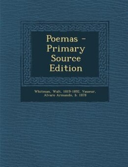 Book Poemas - Primary Source Edition by Walt Whitman