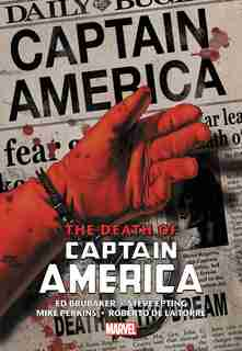 Captain America: The Death Of Captain America Omnibus Hc Epting Death Of The Dream Cover (new Printing) by Ed Brubaker