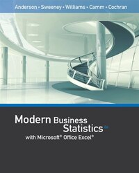 Modern Business Statistics With Microsoft® Office Excel® (with Xlstat Education Edition Printed…