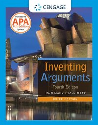 Inventing Arguments Brief Edition, 2016 Mla Update