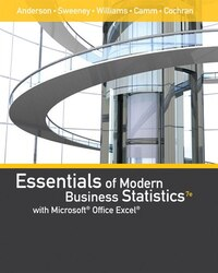 Essentials Of Modern Business Statistics With Microsoft® Office Excel® (with Xlstat Education…