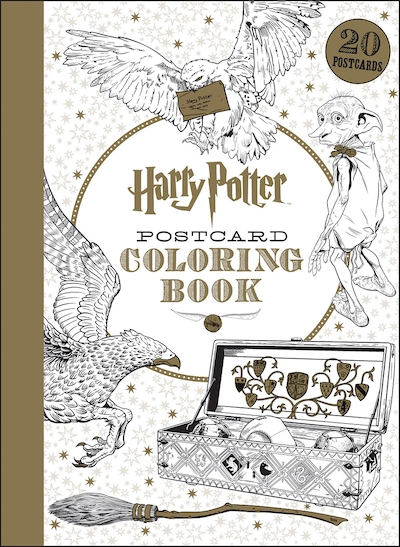 harry potter postcard coloring book book by scholastic inc paperback chaptersindigoca