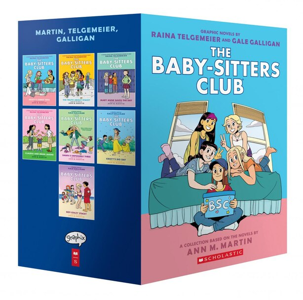 The Baby-Sitters Club Graphix #1-7 Box Set: Full-Color Edition by Ann M Martin