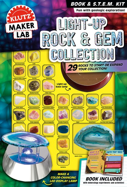 Light-Up Rocks & Gem Collection by Editors of Klutz
