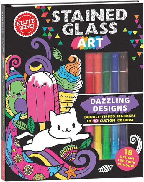Stained Glass Art: Dazzling Designs (Klutz Activity Book)