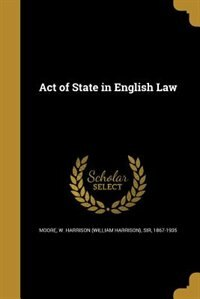 Act of State in English Law